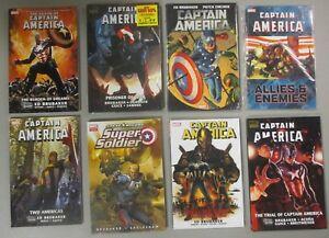 Captain-America-TPB-HC-Lot-of-8-Books-Brubaker-Steve-Rogers-Super-Solder-Marvel