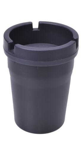 Aschenbecher Ascher für Getränkehalter Abfall Massiv Schwarz für viele Fahrzeuge