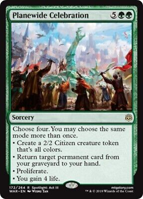 Planewide Celebration X4 M//NM Magic The Gathering MTG War Of The Spark