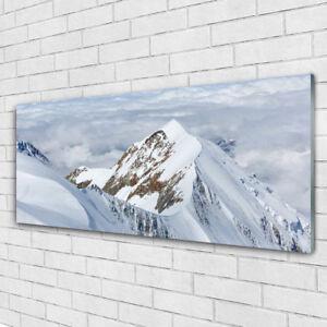 Impression sur verre Image tableaux 125x50 Paysage Montagnes