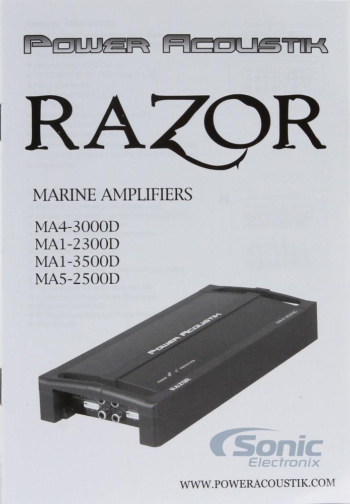 monoblock, Power Acoustik MA12300D Ma1 2300d Razor Marine Series Class D Amp