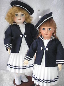 Reproduction Blue Sailor Suit for 14 Inch Rosette