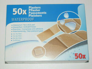 Boite-Lot-x50-Assortiment-Pansement-Adhesif-etanche-Waterproof-Sticking-Plaster