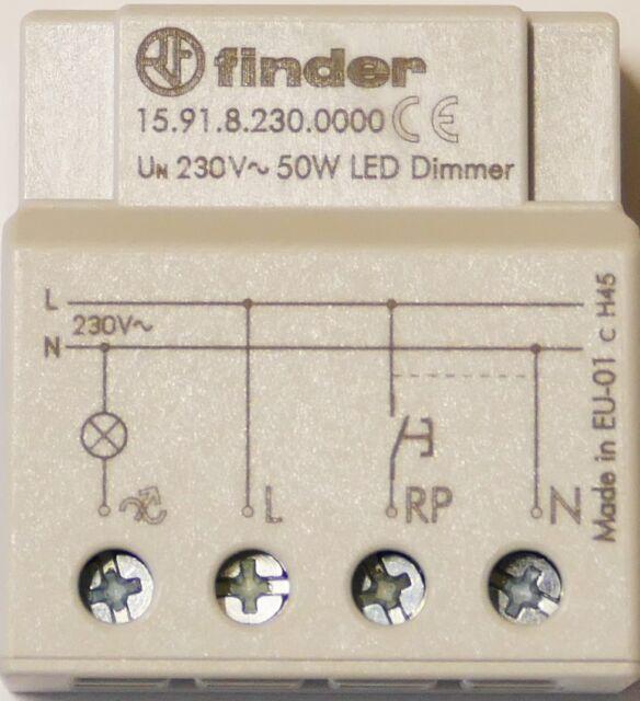 Finder Dimmer elektronisch 230VAC max.50W LED 15.91.8.230.0000   1 Stück