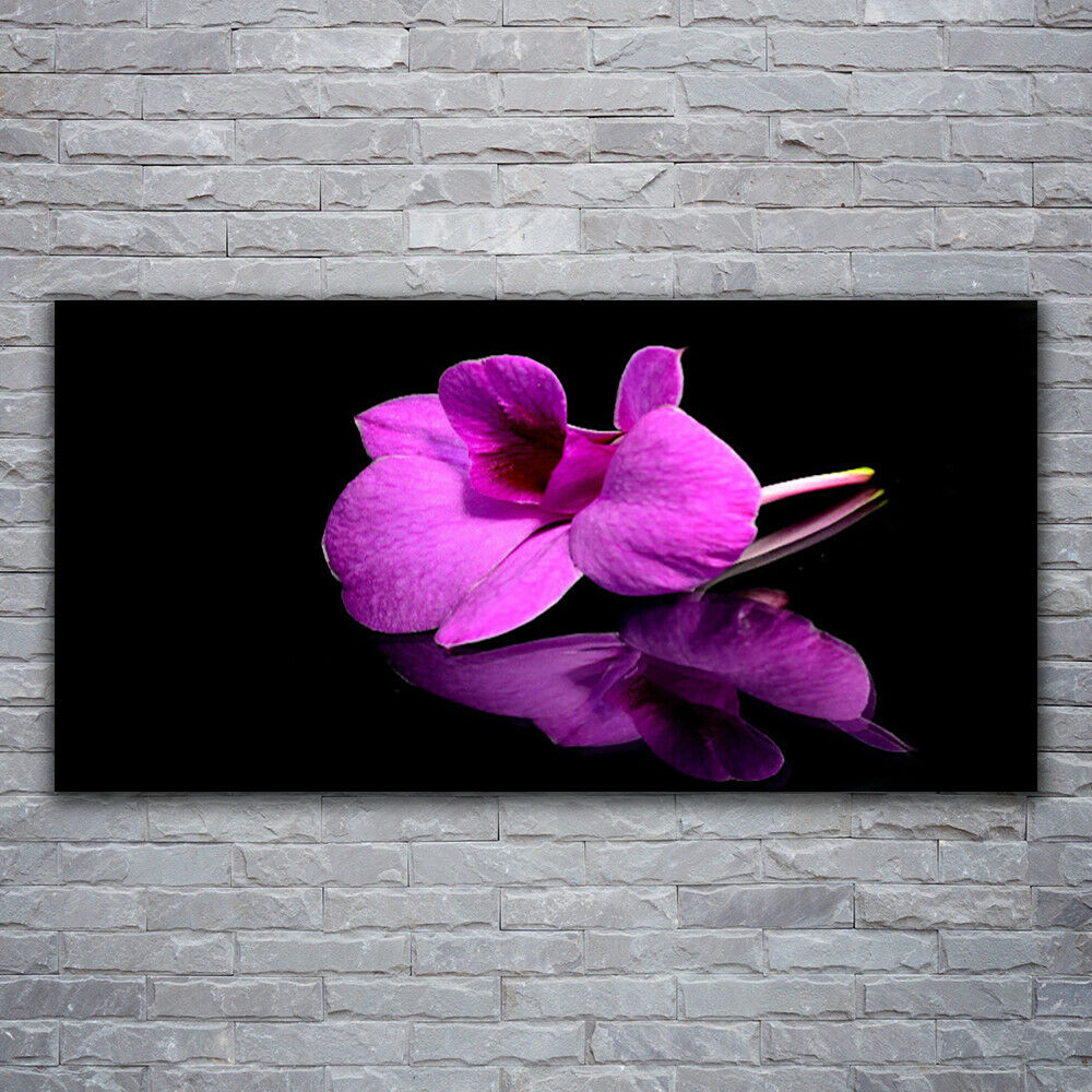 Glass print Wall art 120x60 Image Picture Flower Floral