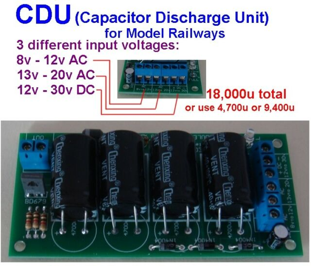 BLOCKsignalling CDU4C Capacitor Discharge Unit Hornby Seep Peco Points Motor CDU