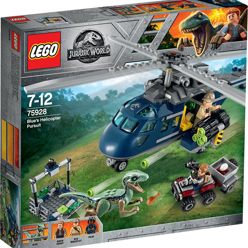 LEGO Jurassic World bluee's Helicopter Pursuit 75928