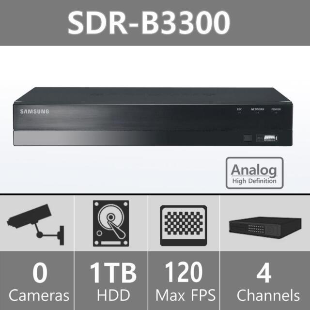 Manufacturer Refurbished Samsung SDR-B3300N 4 Channel 1TB HDD 720p AHD