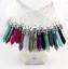 Natural-Gem-Stone-Hexagonal-Prism-Healing-Necklace-Pendant-Free-925-Silver-Chain thumbnail 1
