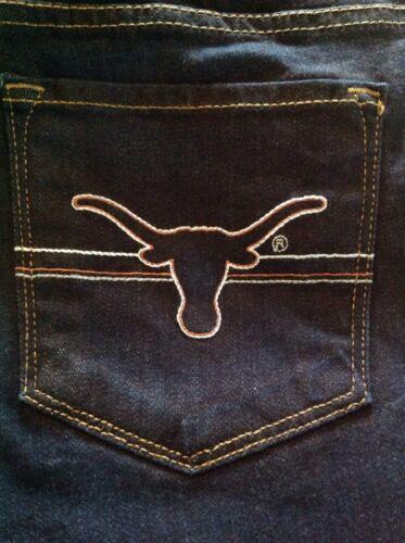corno skinny del Fan Jeans 148 Università Uncino Texas Longhorn taglia Ut 29 fv7nYdc