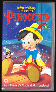 image is loading pinocchio original disney holograms vhs pal uk video