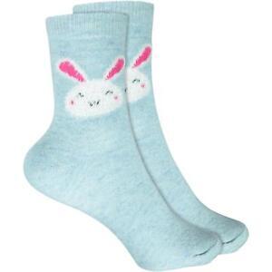 Cosey Dicke Socken – Hase Hellblau (33-40) 1 Paar - Baumwolle Atmungsaktiv Weich