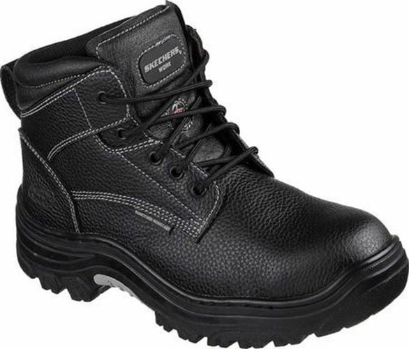 Skechers Work Steel Toe Burgin - Tarlac 77143 BLK Men's Work Boot