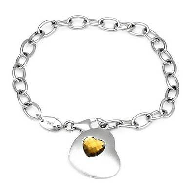 ESPRIT  Lovely Heart  Bracelet  W/3.10ctw Cubic zirconia in 925 Sterling silver