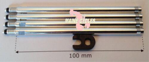 Tufo 100mm presta valve extenders /& valve core tool 4 extenders per order