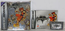 KINGDOM HEARTS CHAIN OF MEMORIES (2004) GAME BOY ADVANCE GBA w/ BOX **COMPLETE**