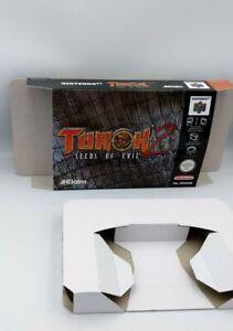 Turok 2 Seeds of Evil  - Box with insert - N64 - PAL, NTSC or AU PAL. HQ !!