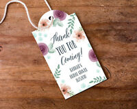Personalized Bridal Floral Statement Tags Wedding Favors -choose From 2 Designs