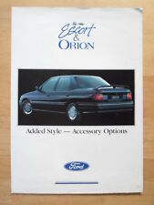 FORD ESCORT & ORION orig c1990 UK Mkt Accessory Options Brochure