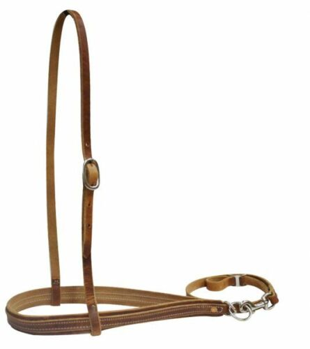 Medium Brown Leather Tiedown Hanger Nose Band Caveson Horse Size USA Made  9001