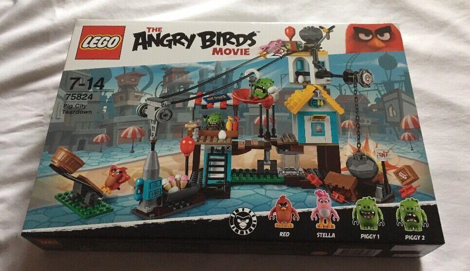 Lego Angry Birds Pig City Teardown Set 75824 From 2016  Brand New
