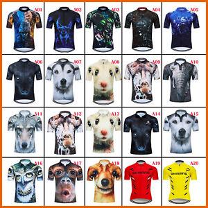 Mens-Cycle-Bicycle-Shirt-Jersey-Bike-Cycling-Jerseys-Tops-Short-Sleeve