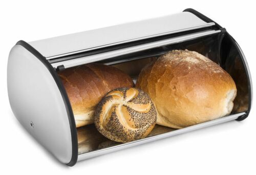 Stainless Steel Bread Box Storage Bin Keeper Food Container Kitchen 34*21*14.5cm