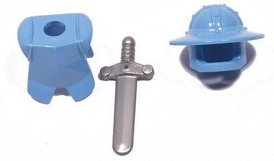 Lego Minifiguren Teile & Zubehör Ritterausrüstung Mittelblau Mit Schwert Silber 30273 2587 76764 Neuware Zielsetzung Lego