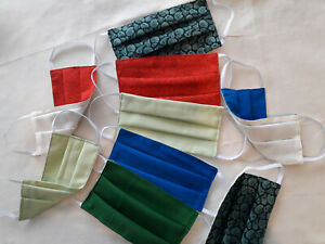 Reusable Face Mask Washable Colourful Cotton Handmade In Australia 2 Layers Ebay
