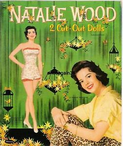 VINTAGE UNCUT 1958 NATALIE WOOD PAPER DOLLS~ORIGINAL SIZE~BEAUTIFUL SET~#1 REPRO