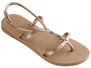ea524b1fb06125 Havaianas Brazilian Women`s Flip Flops Allure Maxi Sandal Rose Gold ...