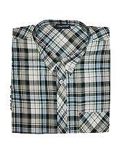 S1-S26 2XL-8XL,20 STYLES ESPIONAGE BUTTON DOWN COLLAR SHORT SLEEVED CHECK SHIRTS