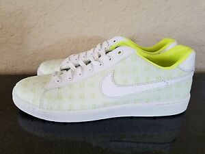 Nike Tennis Classic Ultra polka-dot embroidered canvas  Volt