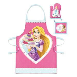 DISNEY-coffret-cuisinier-PRINCESSES-tablier-gant-manique-3-8-ans-NEUF