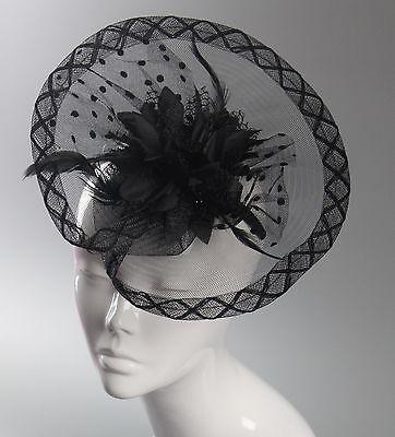 Dot Disc Flower Fascinator Headband Wedding Hair Accessories