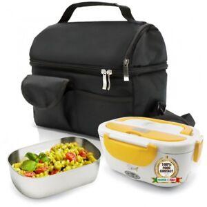 SET BORSA Termica + SPICE Amarillo inox Scaldavivande Lunch Box con vaschetta