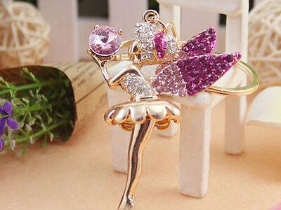 KC006 Angel Cute Swarovski Crystal Charm Pendant Key Bag Chain Gift Fashion