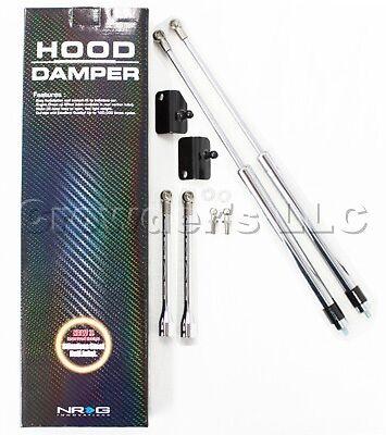 NRG Hood Damper Kit Polished Honda CR-Z 2011