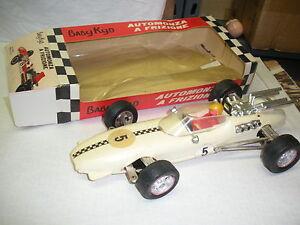 BABY-KID-AUTO-AUTOMONZA-F1-FRIZIONE-PLASTICA-23-cm-1970-039-s-ITALY-1010-MIB