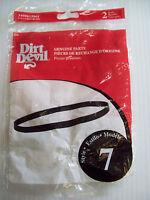 Dirt Devil Style 7 Belts 460615 Easy Steamer. 2 Genuine Belts, Roommate