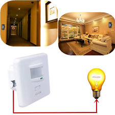 US Wall PIR Motion Detector Light Switch Security Sensor Voice Sound Activated