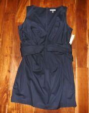 Womens size 6  Navy blue Floral Sleeveless Sheath dress NWT By eci New York