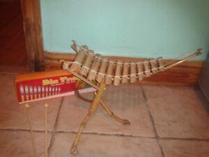 Glorieux Fairtrade Vietnamien Bambou Xylophone Percussion Nouveau Coffret Instrument De Musique-afficher Le Titre D'origine Haut Niveau De Qualité Et D'HygièNe