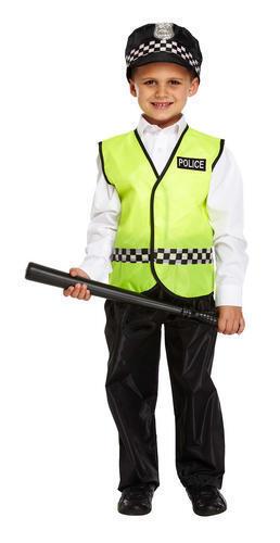Hat Policeman Boys Fancy Dress Childrens Kids Police Man Cop Uniform Costume
