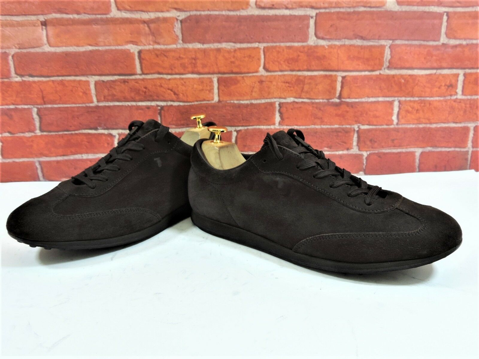 Tods Brown Suede Sneakers Trainers  UK 8 US 9 EU 42 One brief wear Italian