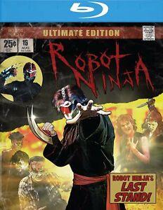 Robot-Ninja-Ultimate-Edition-Blu-ray-DVD-Raro-1989-superheroe-Gore-limitada
