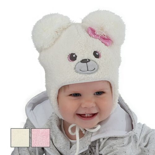 6m-18 months 46 Winter baby hat children hat little girl Bear size 44 48