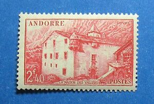 Europe Qualified 1944 Andorra French 2fr40c Scott# 89 Michel # 107 Unused Nh Cs27714 Good For Energy And The Spleen Stamps