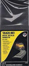 "HO/O Scale Woodland Scenics ST1470 Track-Bed 5"" x 24"" Sheets (6) pcs"