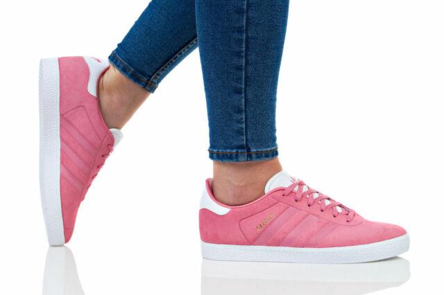 buy online 54f79 66c9c CQ2882 ADIDAS Junior Girls GAZELLE J Suede Trainers Womens Sneakers Shoes  UK 4.5